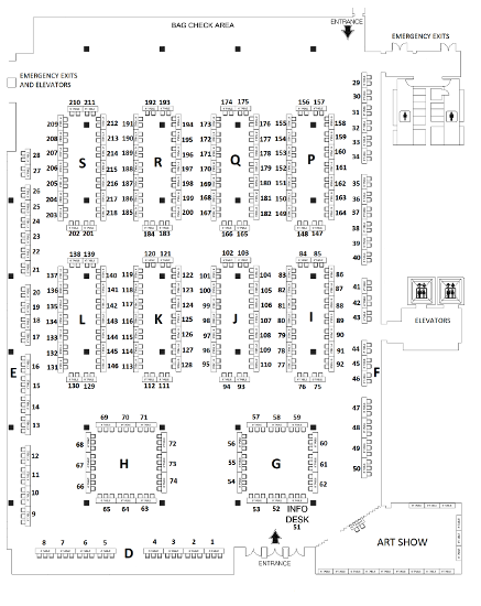 Artists Alley Map